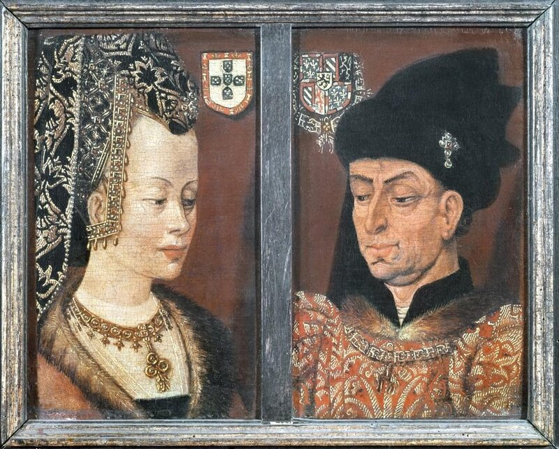 Unknown Artist, Flemish Philip The Good, Duke of Burgundy And His Third Wife Isabel Of Portugal, 1430