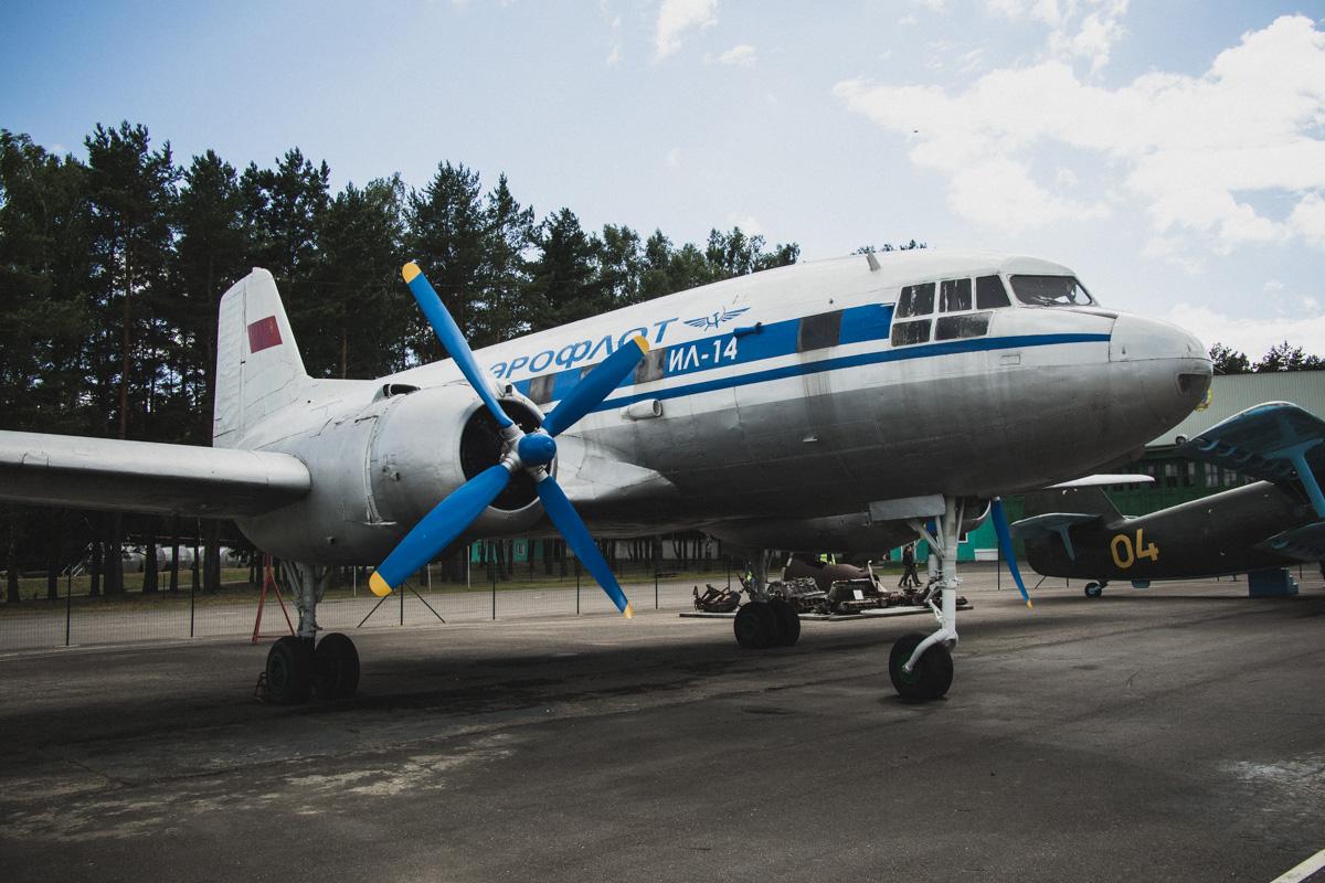 Ближнемагистральный пассажирский самолет Ил-14П. В середине 1950-х годов стал основным пассажирским
