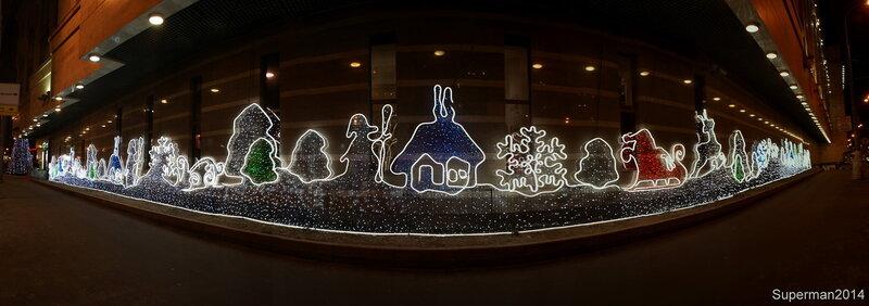 Новогодняя светодиодная инсталляция на Большой Тульской