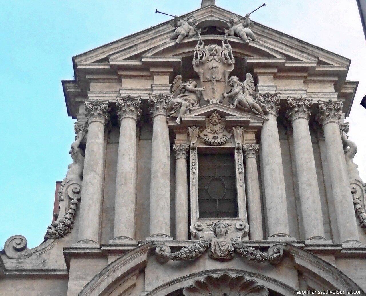 Церковь Santi Vincenzo e Anastasio a Trevi.