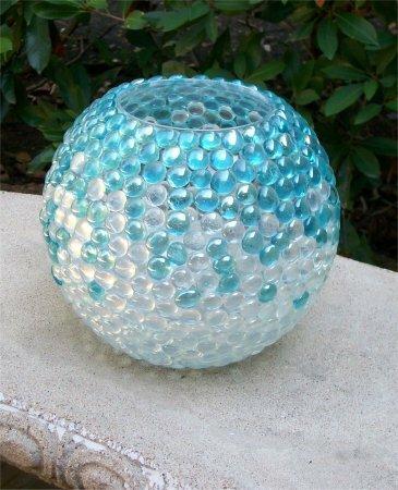 Декорирование стеклянной вазы