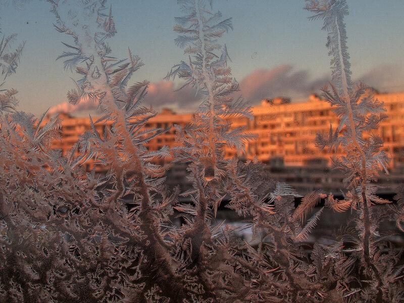 За моим окном - зима