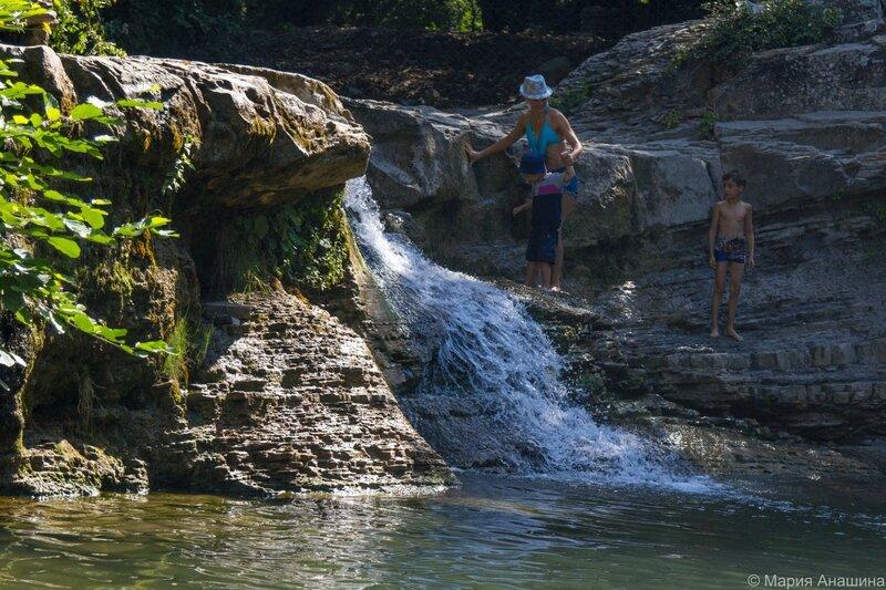 Водопад на реке Жане, Геленджик, экскурсии в Геленджике