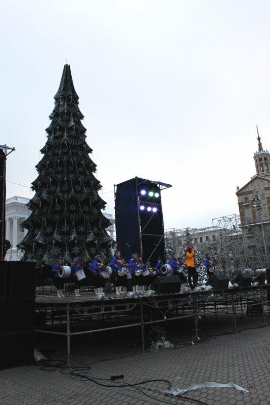 Предновогодний концерт на Майдане Незалежности