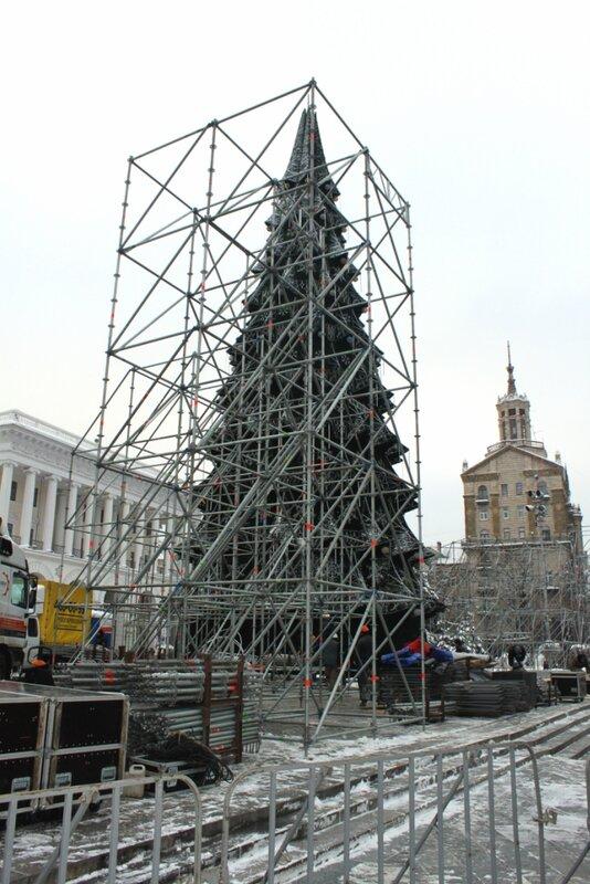 Конструкции сцены Дня Святого Николая