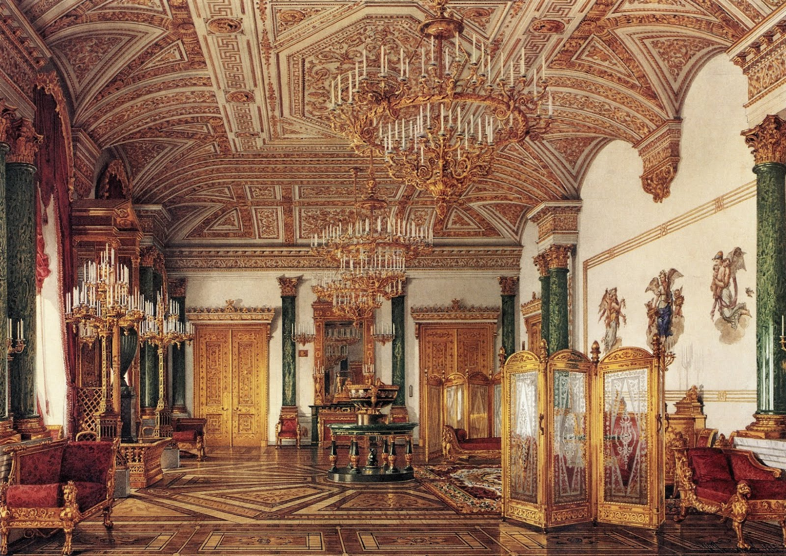 The Malachite Drawing Room