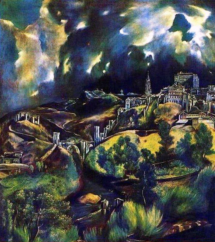 Картины старых мастеров 008.jpg, Эль Греко, Вид Толедо
