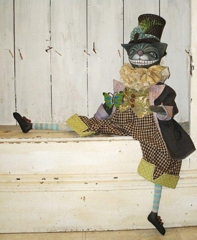 кукла чеширский кот