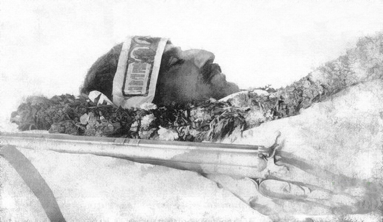 Посмертная фотография Н.М. Пржевальского.  8 ноября 1888 года