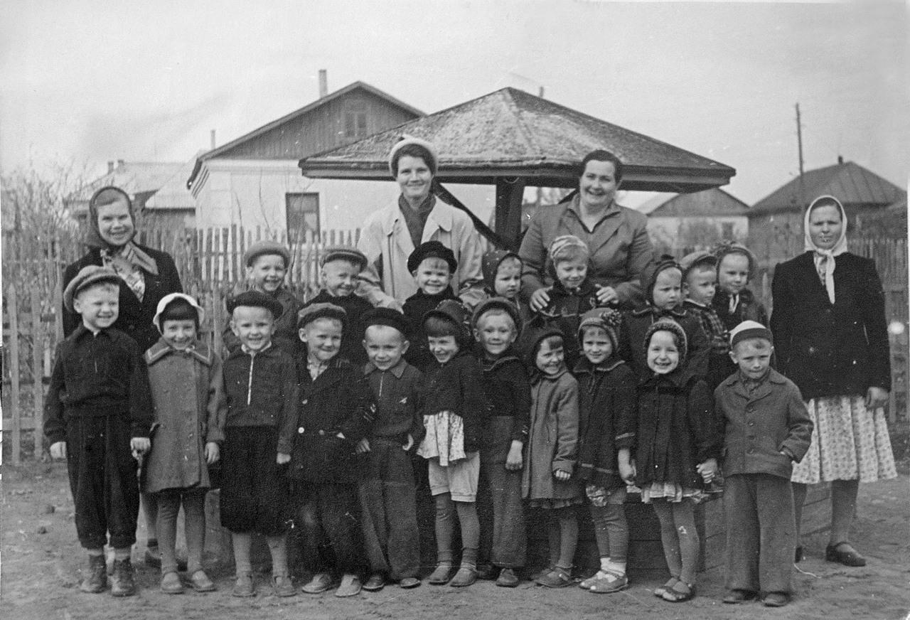1950-е. Детский сад
