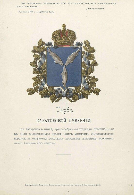 Саратовская губерния 1880 год