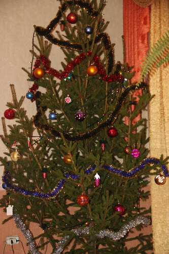 елка, старый новый год