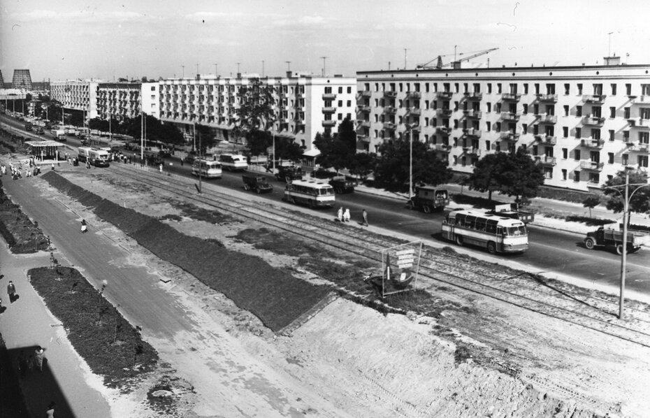 1962.07. Панорама проспекта Воссоединения. Фото: Примаченко А.
