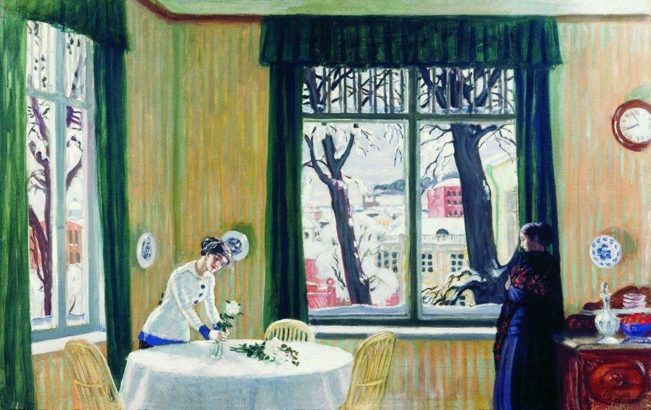 В комнатах зимой. 1915, Кустодиев, Борис Михайлович (1878-1927)