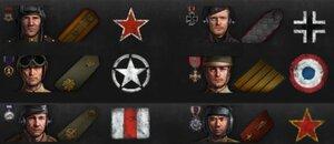 Погоны и медали для экипажа World of Tanks