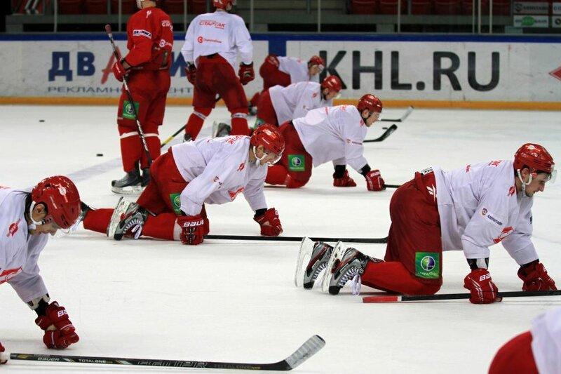 Тренировка «Спартака» перед матчем со «Слованом» (Фото)
