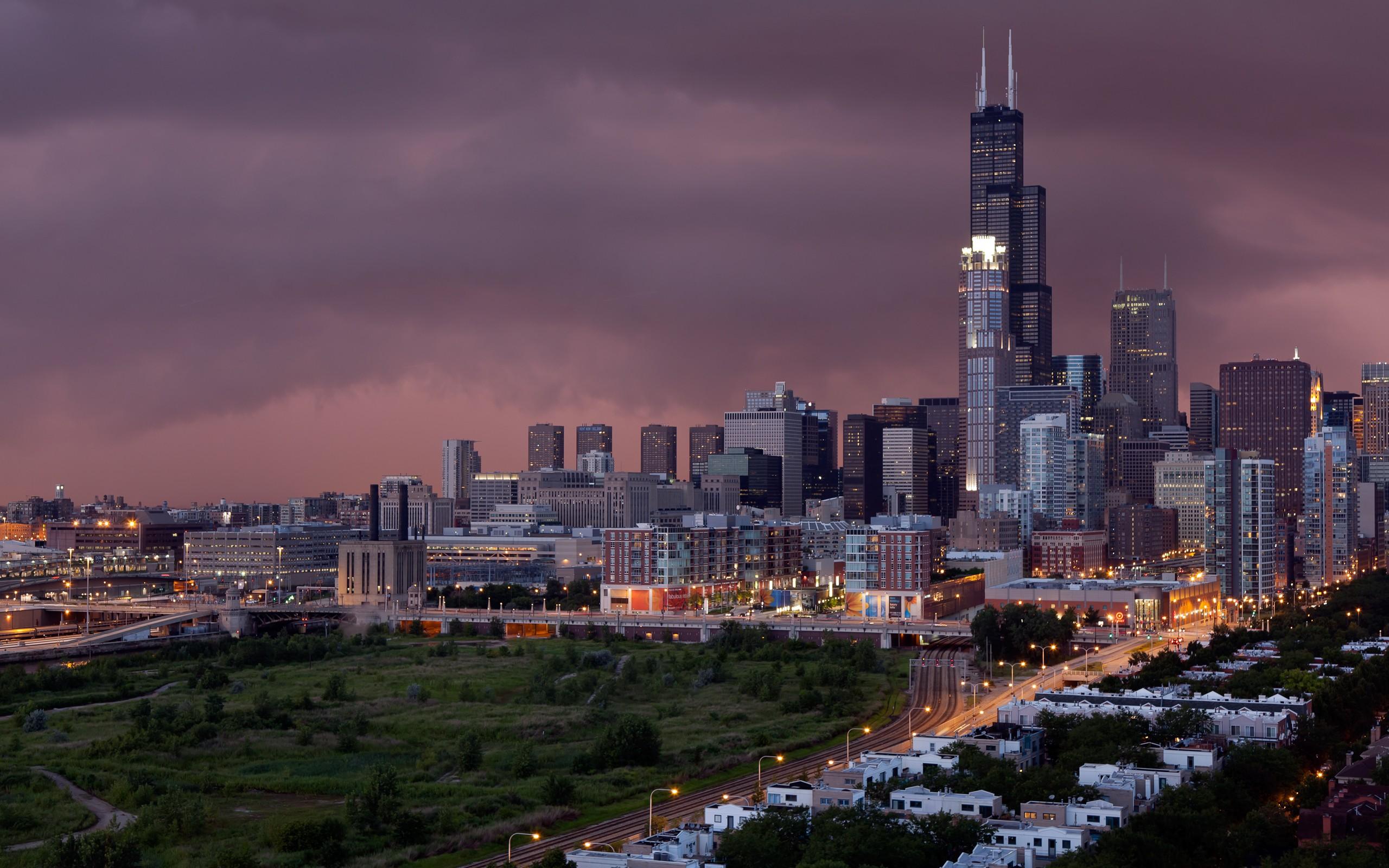 Обои skyline, чикаго, сша, one prudential plaza, chicago. Города foto 18