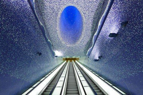 Арт-проект - морской стиль в метро