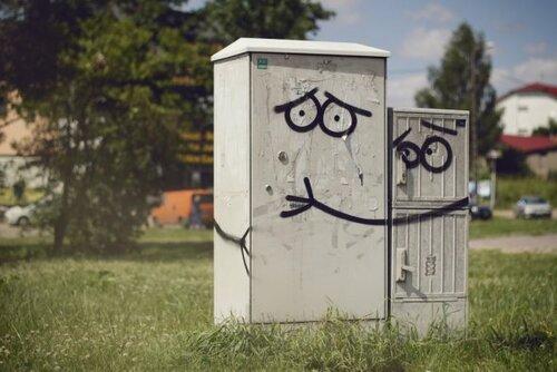 Уличное искусство с улыбкой