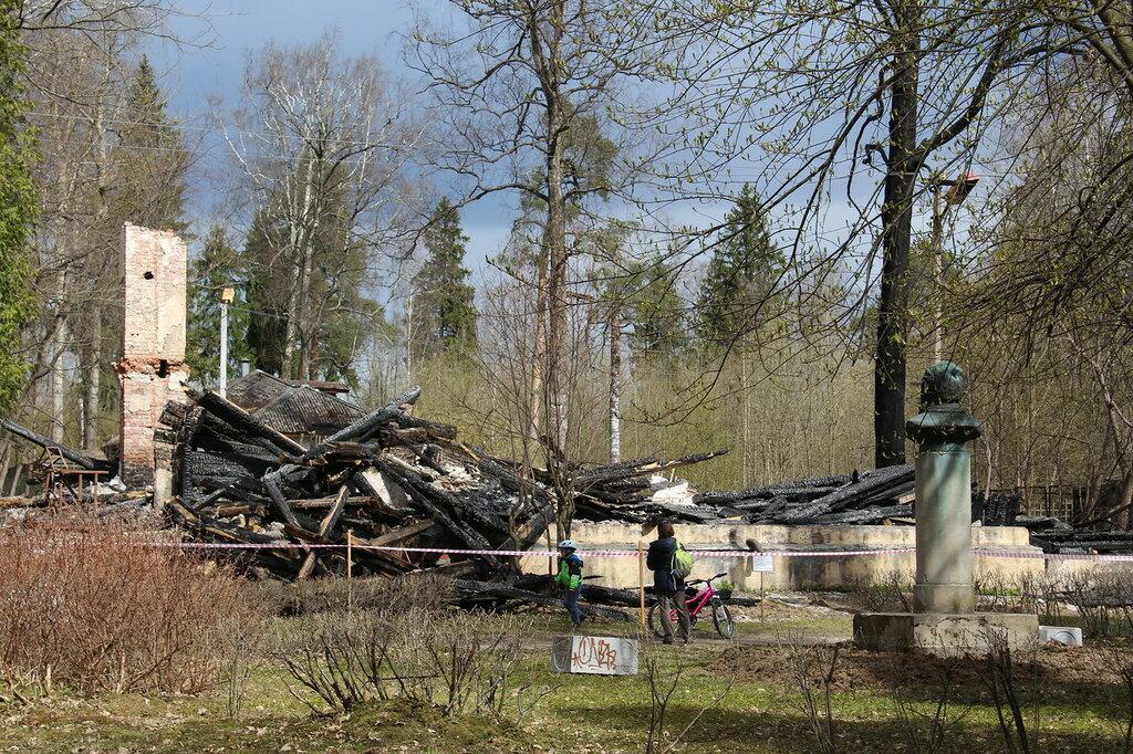 Колтуши. Дом Павлова после пожара