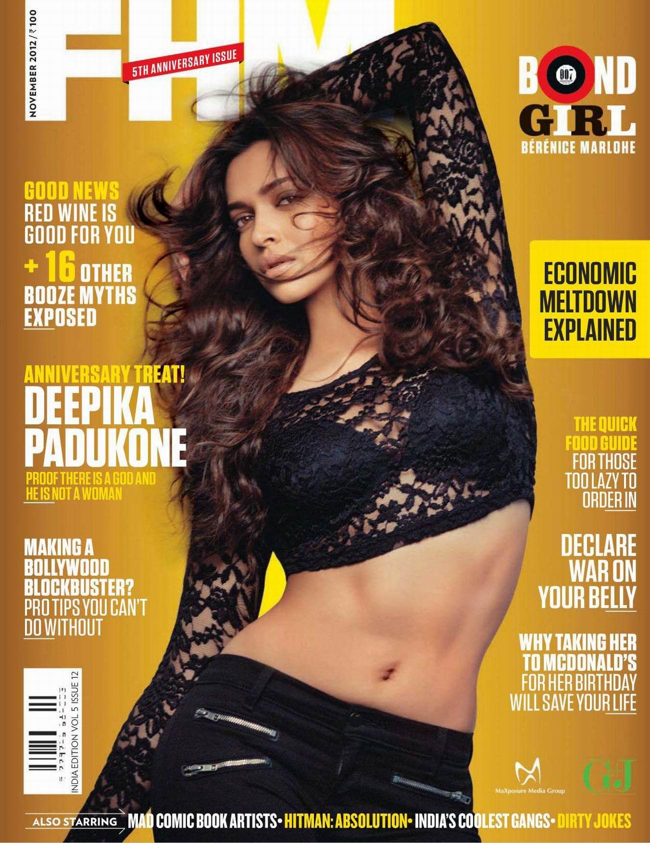 Дипика Падуконе (Deepika Padukone) фото в журнале FHM Индия, октябрь 2012
