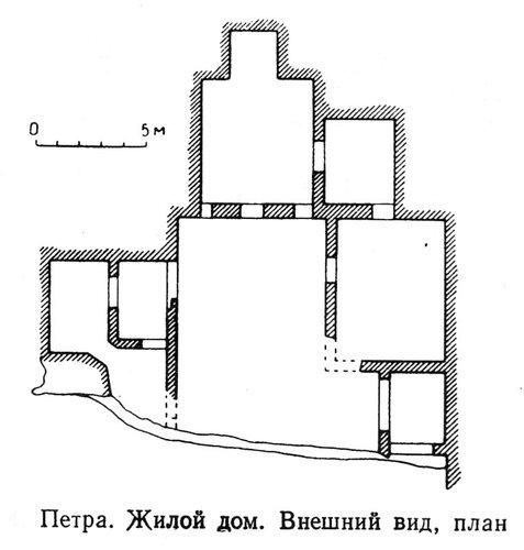 Жилой дом в Петре, план