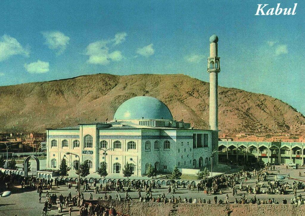 Афганские открытки. Кабул, мечеть Пули-Хишти.jpg