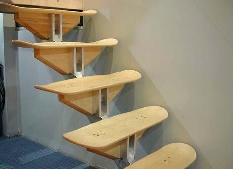 Мебель из скейтбордов1