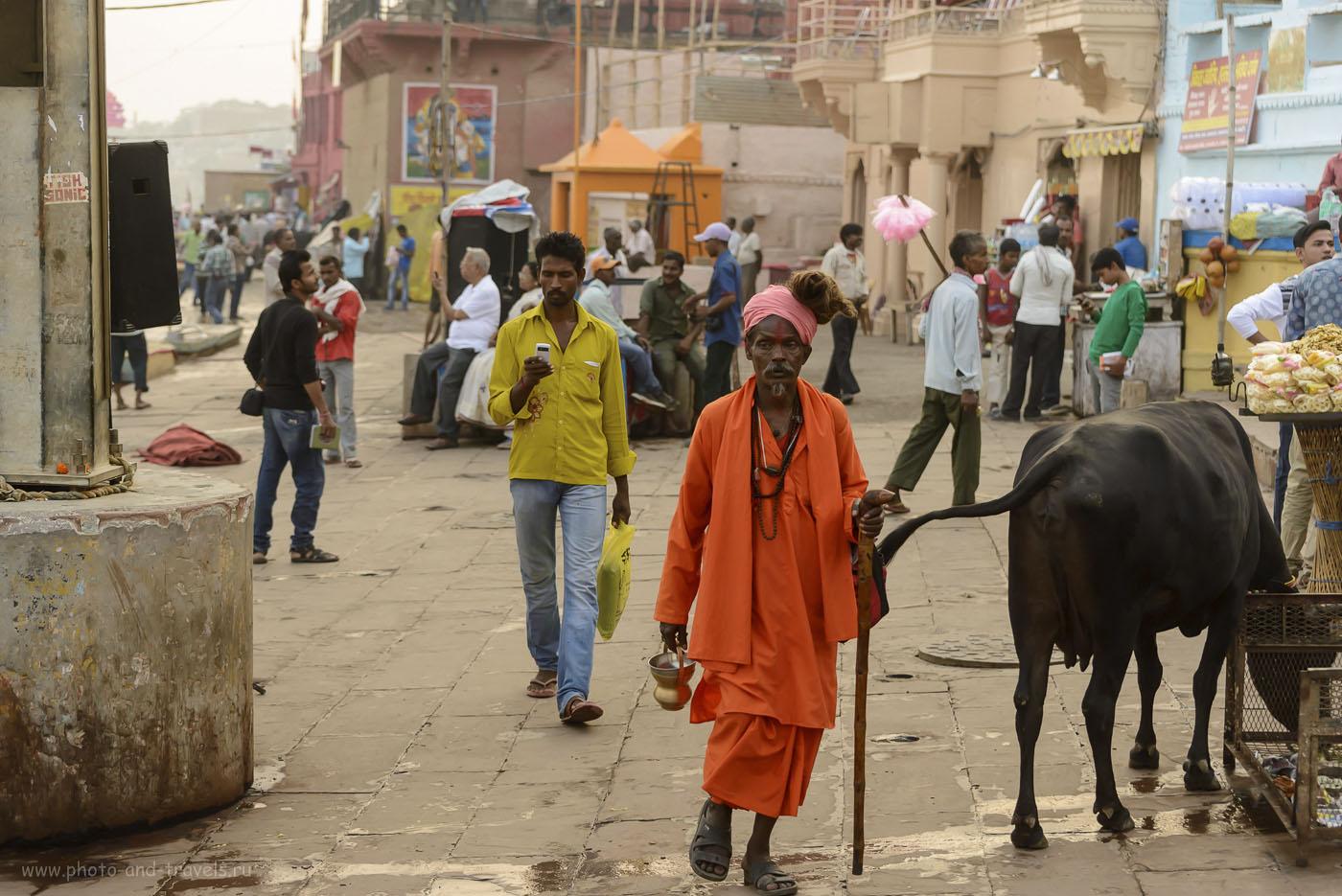 Фото 26. Садху в Варанаси. Рассказы туристов о самостоятельных путешествиях в Индию. 1/640, 4.5, 1250, 70.