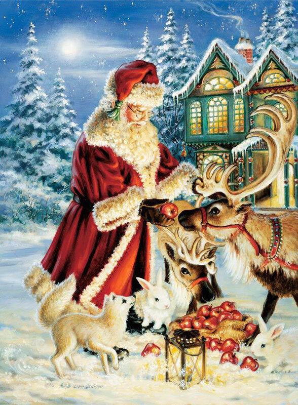 Рождественские открытки на новый год