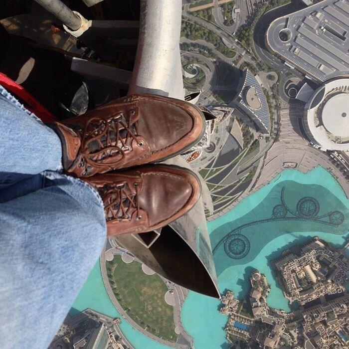 Яйцещемящая высота - потрясающий вид с самого высокого здания в мире