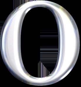 Красивый серебряный английский алфавит
