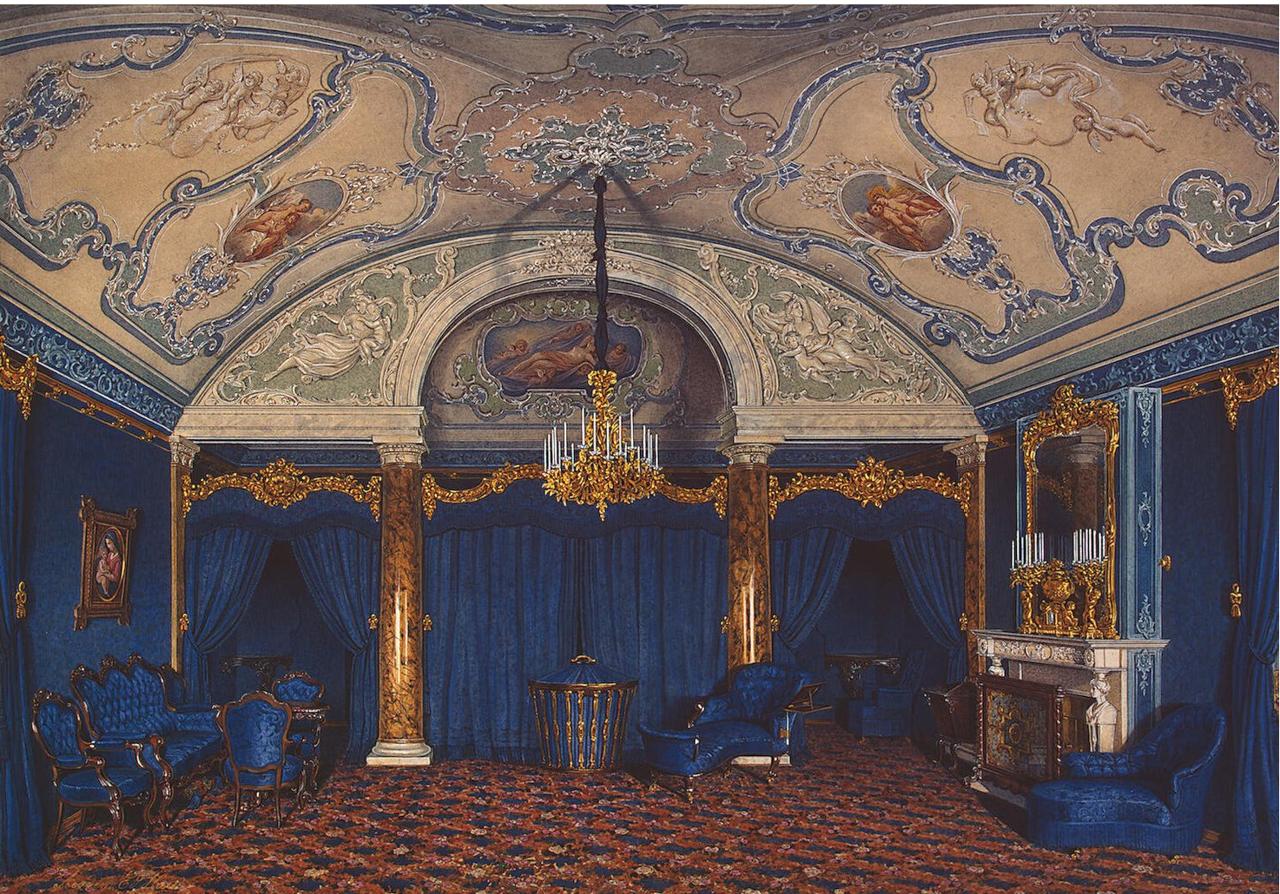 Интерьеры Зимнего дворца. Спальня