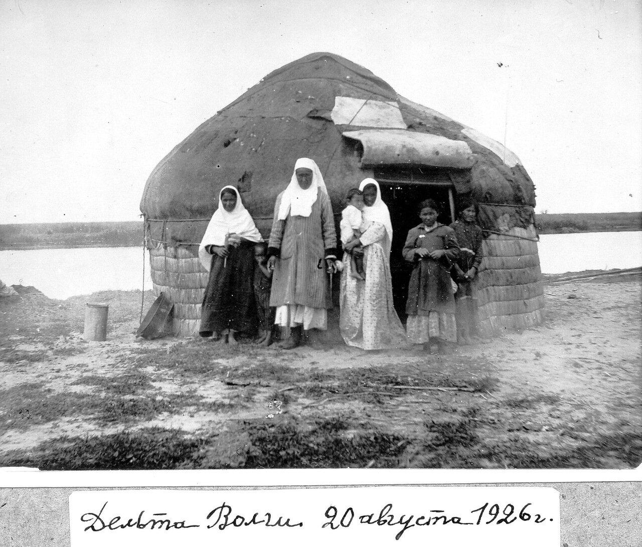 1926 г. Казахская юрта в Приволжской степи