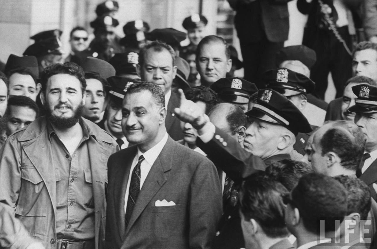 Фидель Кастро и Гамаль Абдель Насер на сессии Генеральной Ассамблеи Организации Объединенных Наций