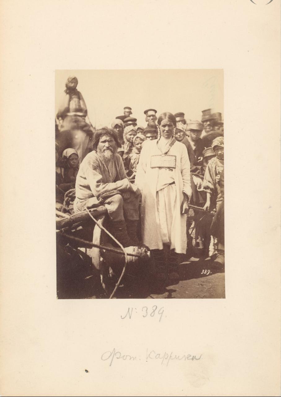 Крестьянин на телеге. 1870-е