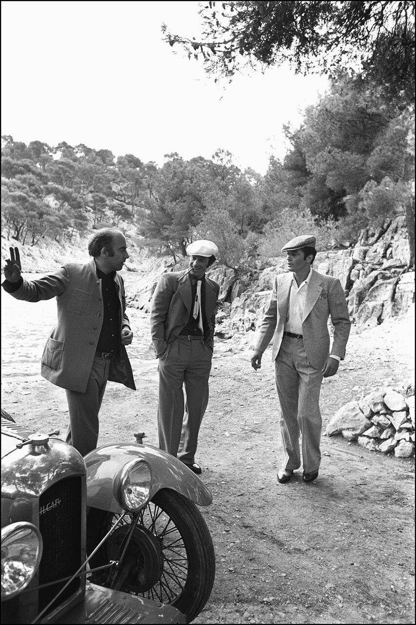 1970. На съемках «Борсалино» с Жаном-Полем Бельмондо и Жаком Дерэ