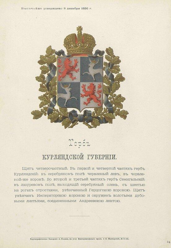 Курляндская губерния 1880 год