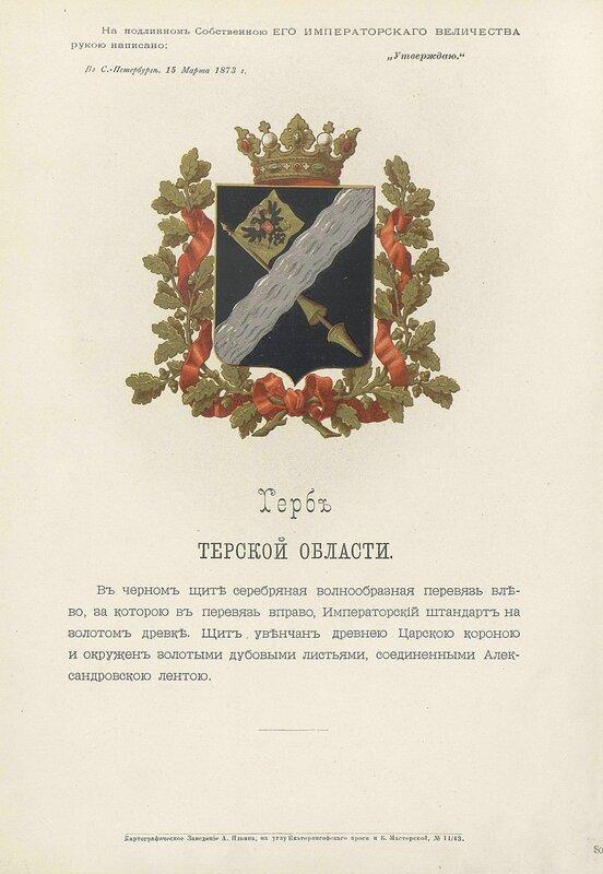 Терская область 1880 год