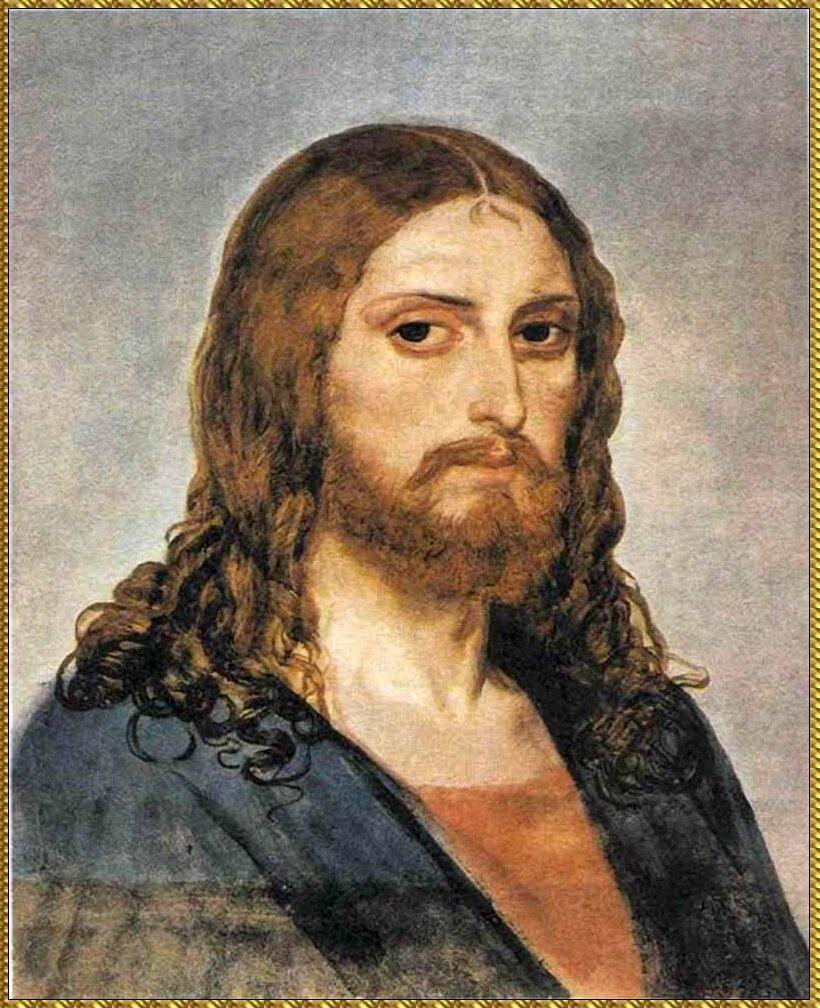 Христос, Этюд к картине Явление Христа народу. (1840-1857) Иванов Александр Андреевич (1806-1858)