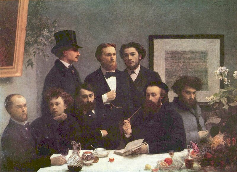 Around the Table (Writers), 1872, Henri Fantin-Latou( 1836 — 1904)r;