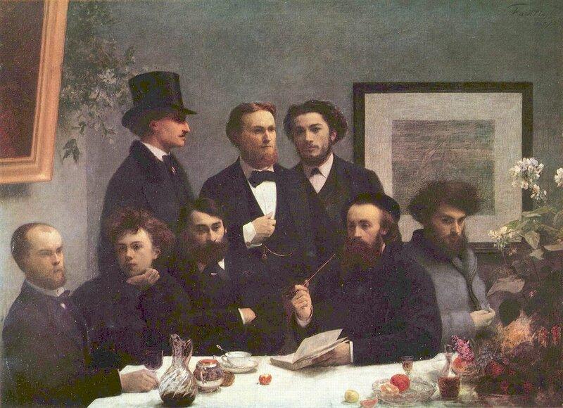 Around the Table (Writers), 1872, Henri Fantin-Latou( 1836 — 1904)r;