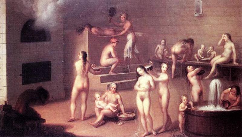 Видео во французской общей женской бане