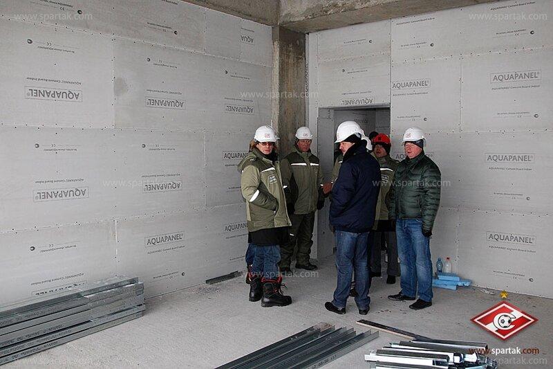 Федун и Карпин на строительстве стадиона «Спартак» (Фото)