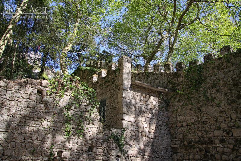 внутренние дворики замка мавров, синтра