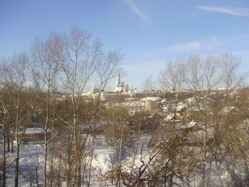 Вид на Лавру с железной дороги
