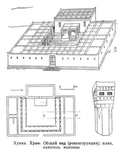 Храм в Хукке, Йемен, чертежи