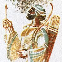 В. Хвостов, Скифы в остроконечных шапках