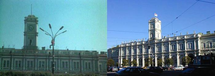 23. Здание Московского вокзала. Тех фонарей давно нет, а здание вокзала отреставрировано. 24. Станци