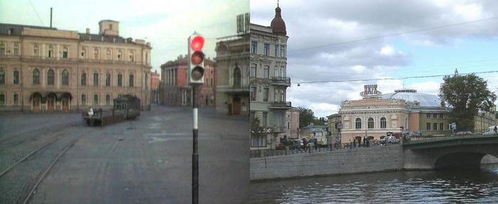 36. Потом трамвай едет по улице Пестеля, переезжает мост Белинского через Фонтанку, едет мимо цирка